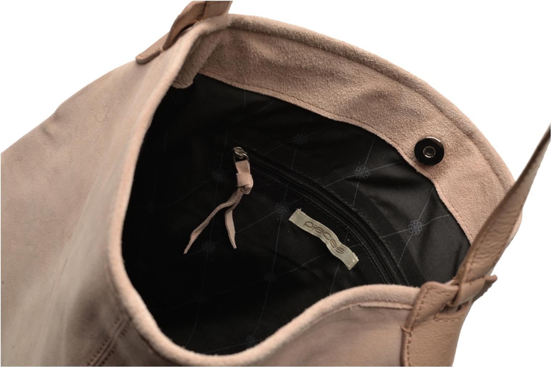 Handtaschen Pieces Tabatha suede Obo bag rosa ansicht von hinten
