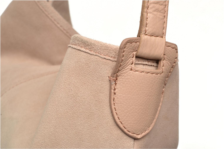 Handtaschen Pieces Tabatha suede Obo bag rosa ansicht von links