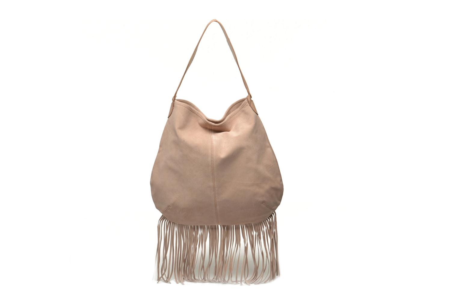 Handbags Pieces Tabatha suede Obo bag Pink detailed view/ Pair view