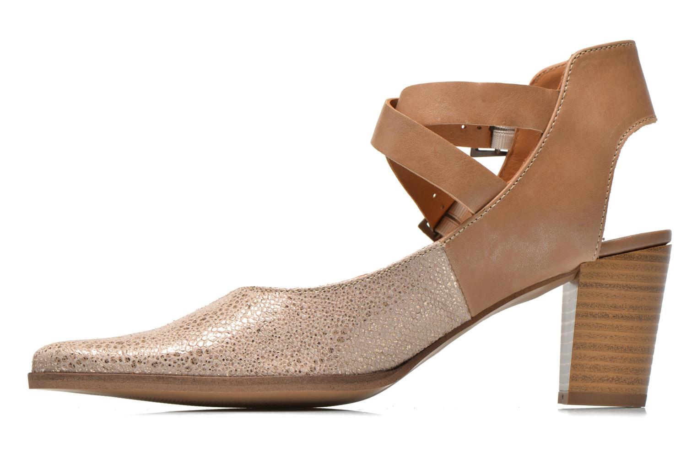 Zapatos de tacón Karston Kzola Beige vista de frente