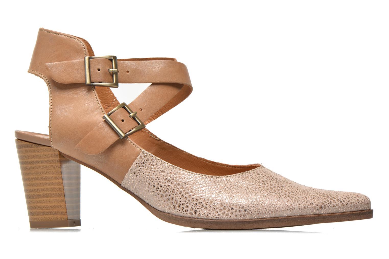 Zapatos de tacón Karston Kzola Beige vistra trasera