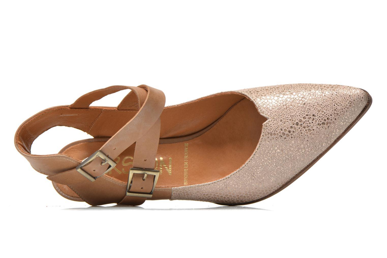 Zapatos de tacón Karston Kzola Beige vista lateral izquierda