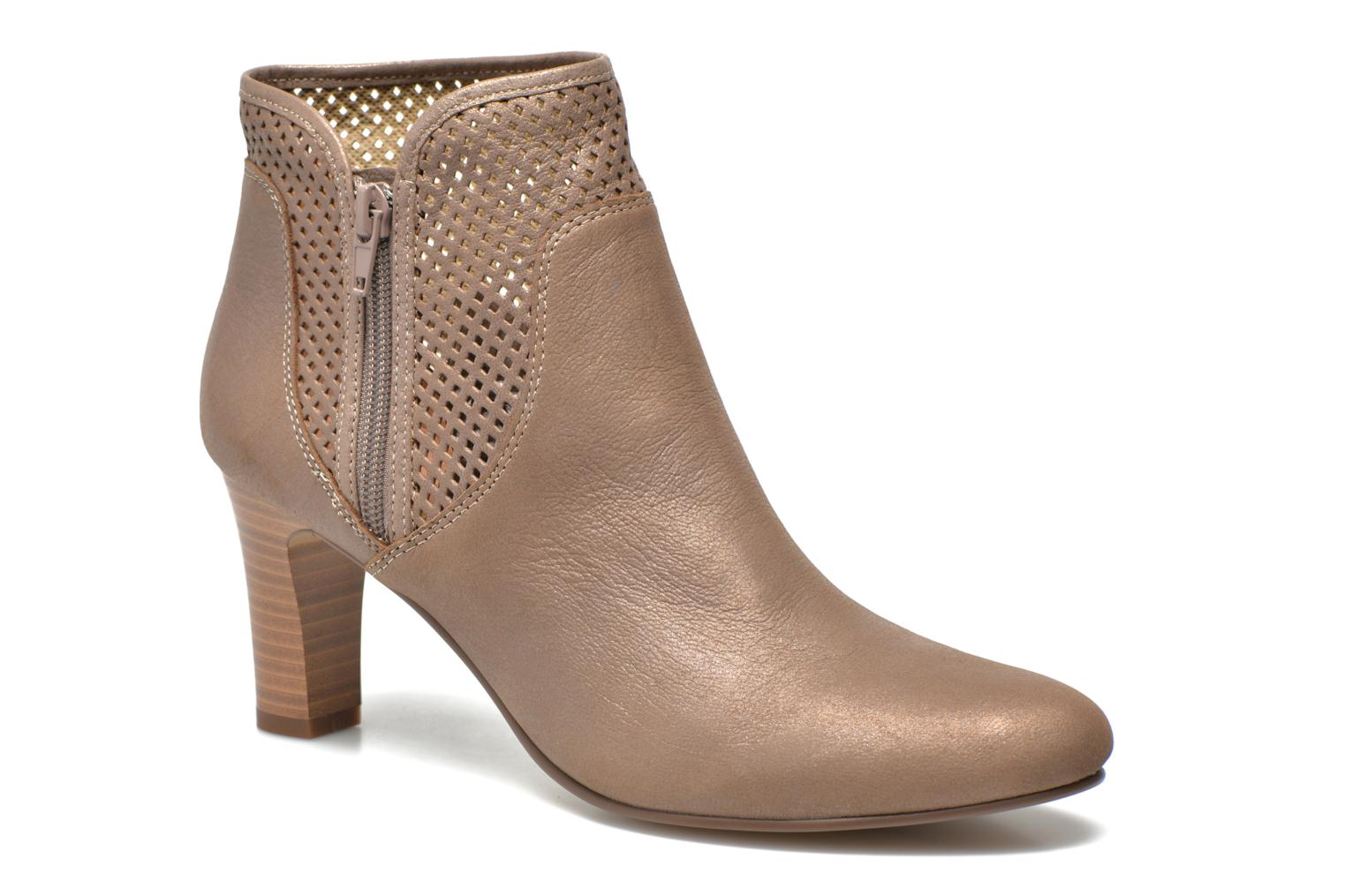 Ankle boots Karston Avina Bronze and Gold detailed view/ Pair view