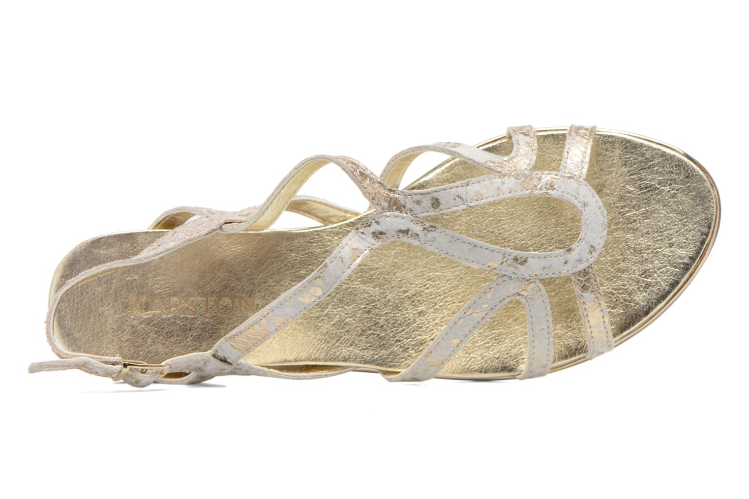 Sandals Karston Sofor Bronze and Gold view from the left