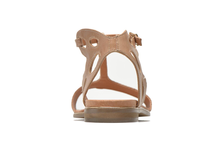 Sandales et nu-pieds Karston Sonat Beige vue droite
