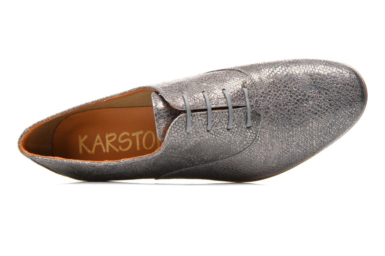 Schnürschuhe Karston Joshoi grau ansicht von links
