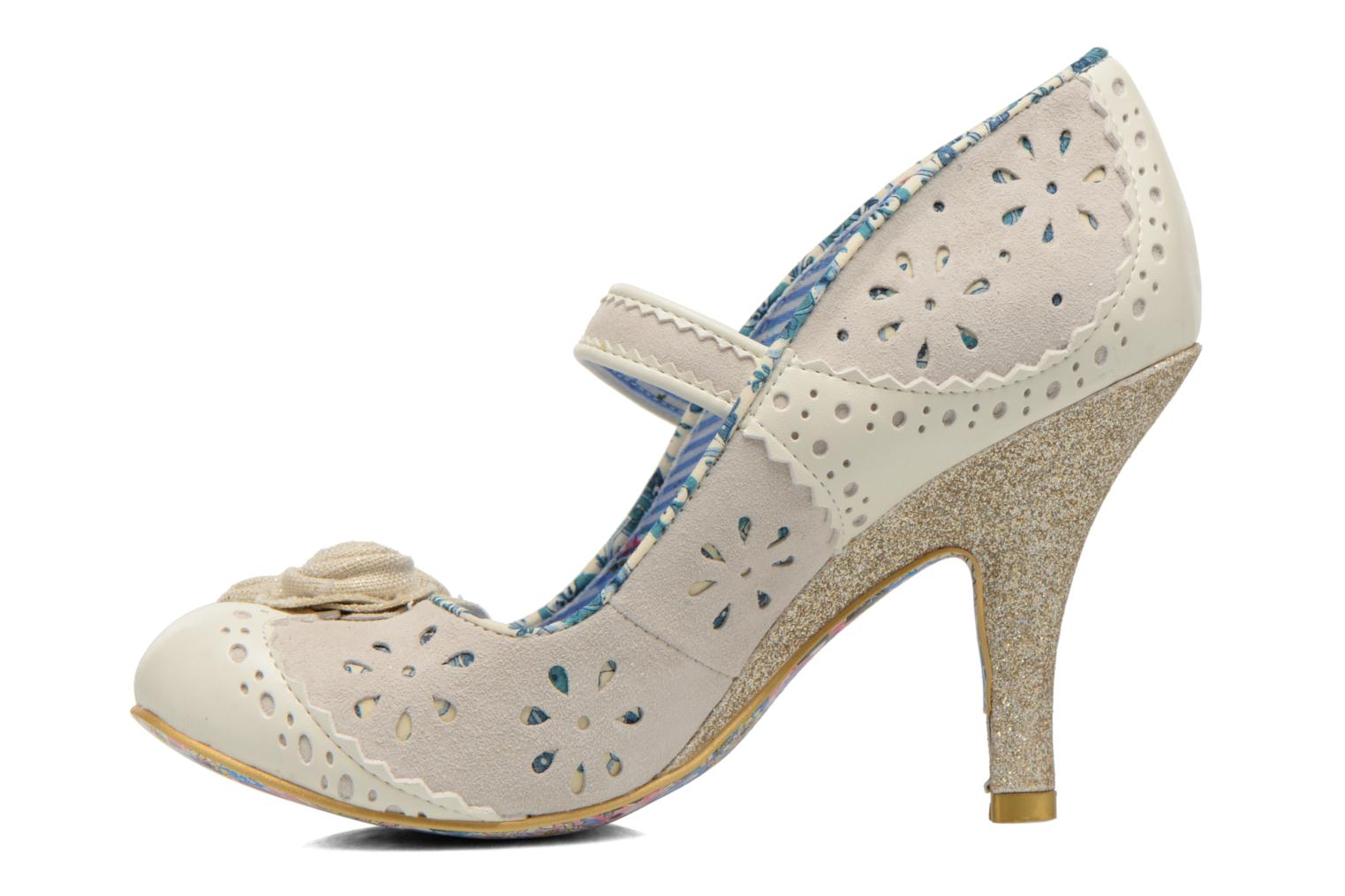 High heels Irregular choice Echo Beige front view