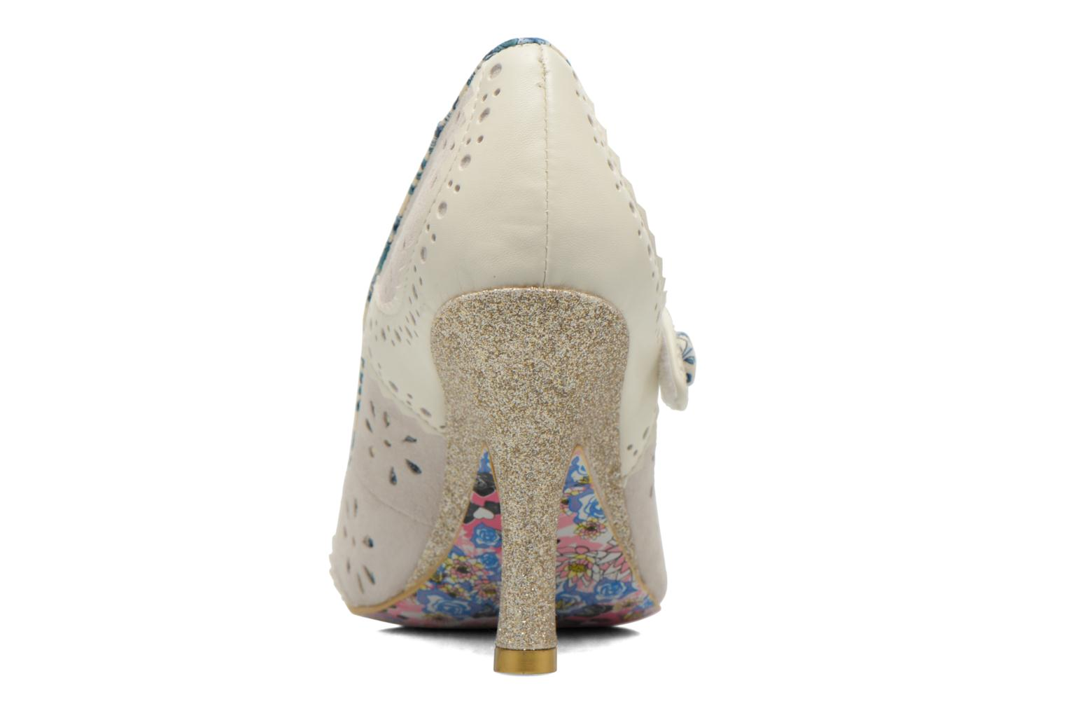High heels Irregular choice Echo Beige view from the right