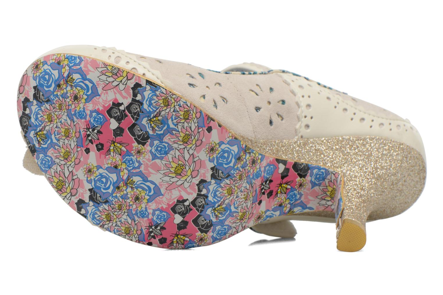 High heels Irregular choice Echo Beige view from above