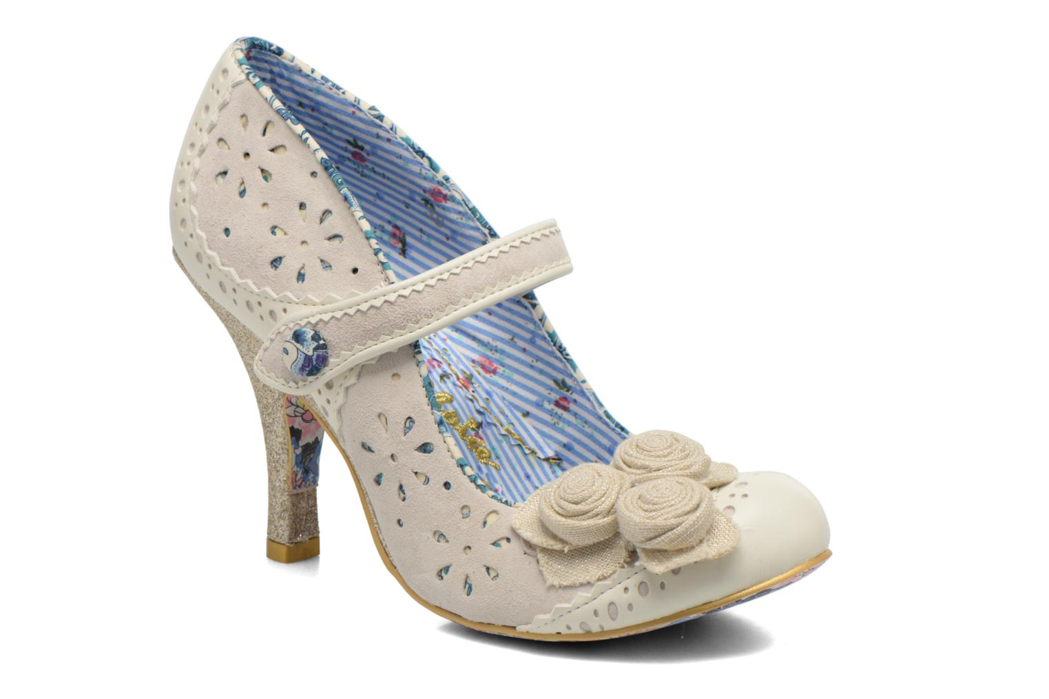 High heels Irregular choice Echo Beige detailed view/ Pair view