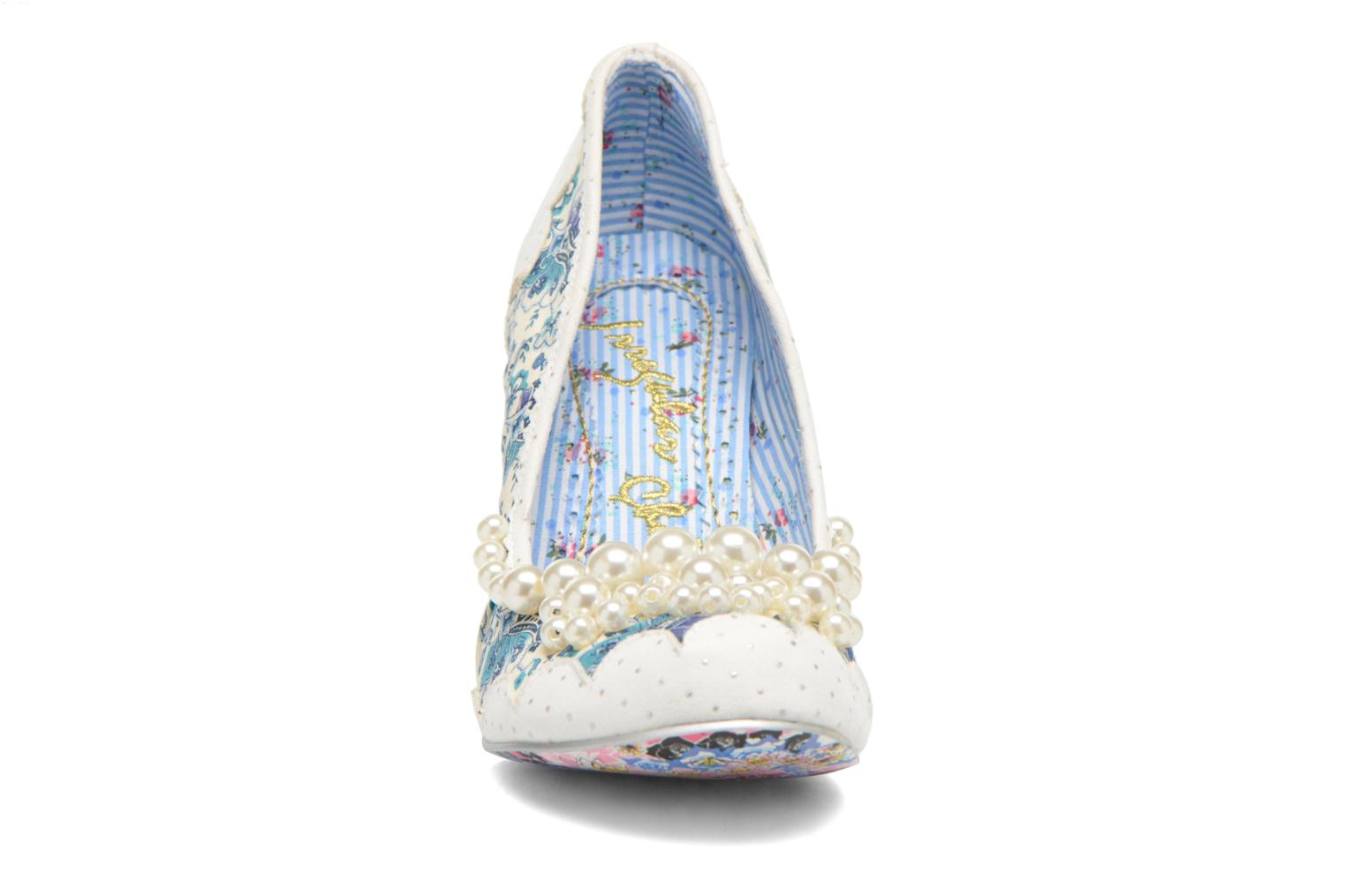 High heels Irregular choice Pearly Girly White model view