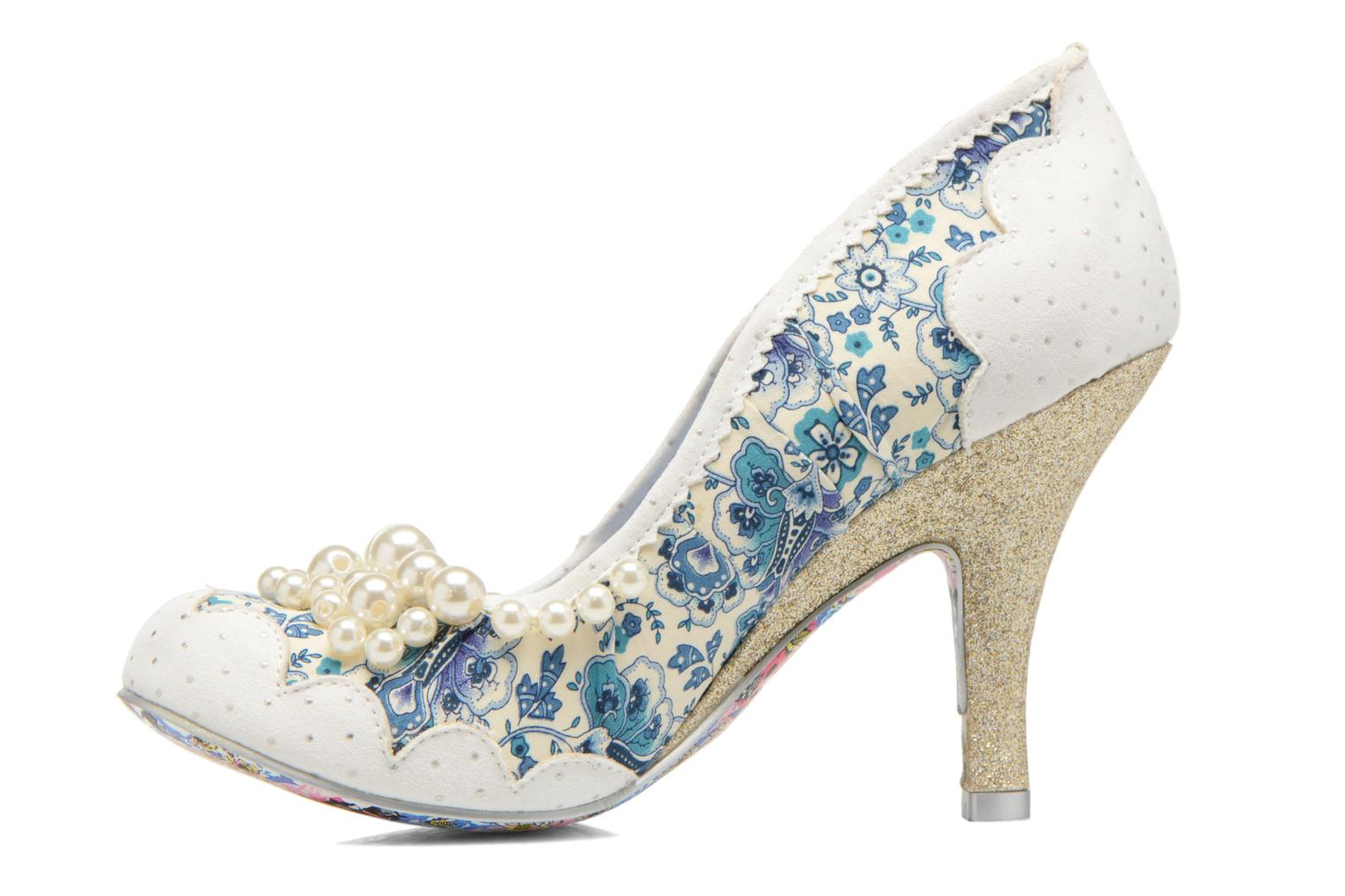 High heels Irregular choice Pearly Girly White front view