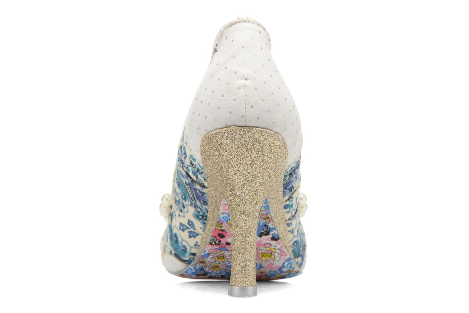 High heels Irregular choice Pearly Girly White view from the right