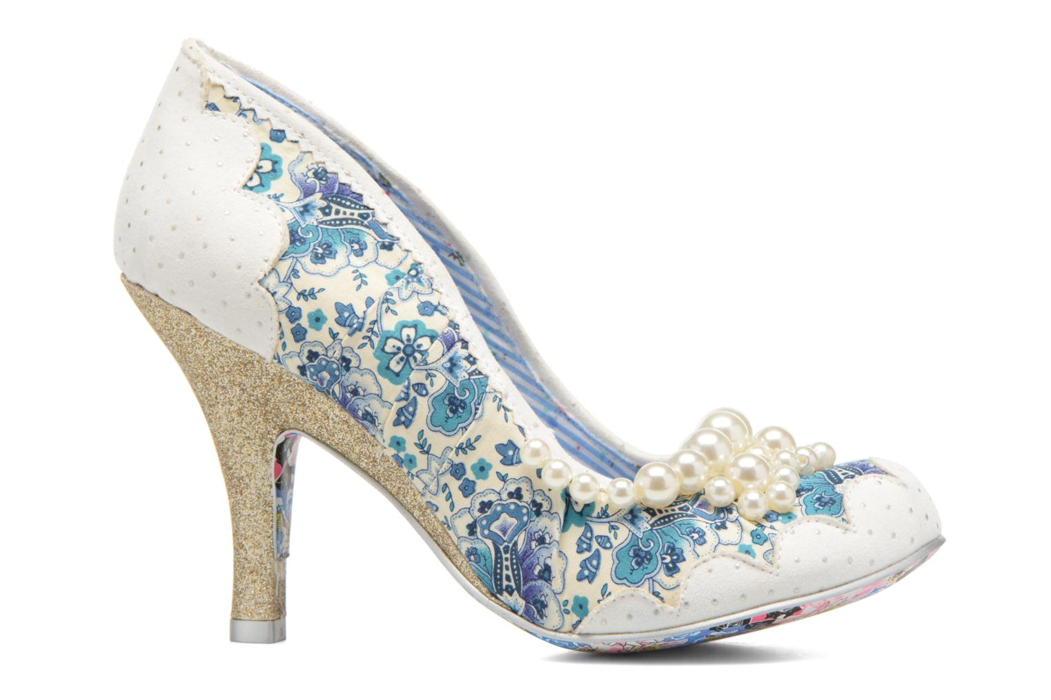 High heels Irregular choice Pearly Girly White back view