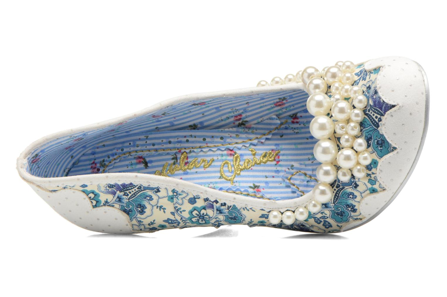 High heels Irregular choice Pearly Girly White view from the left