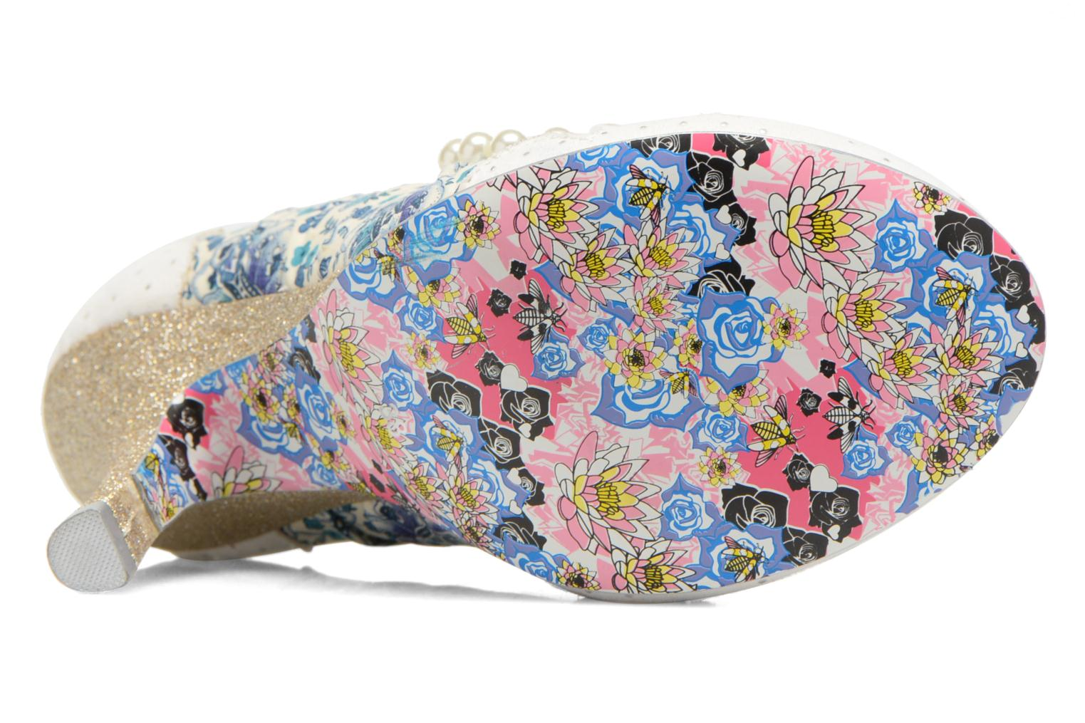 High heels Irregular choice Pearly Girly White view from above