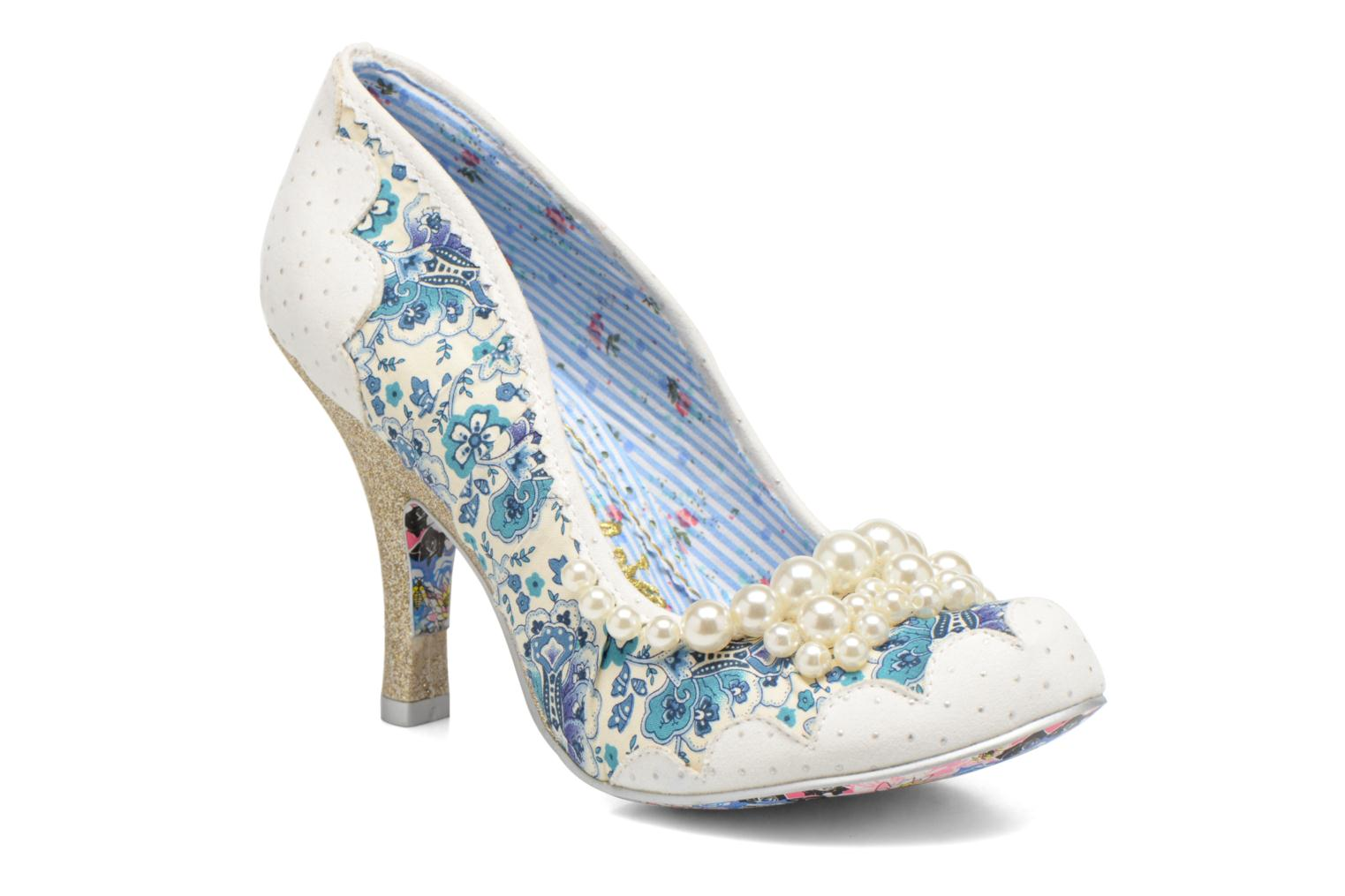 High heels Irregular choice Pearly Girly White detailed view/ Pair view