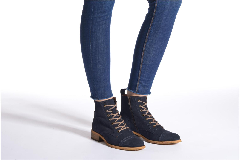 Bottines et boots Georgia Rose Casaki Bleu vue bas / vue portée sac