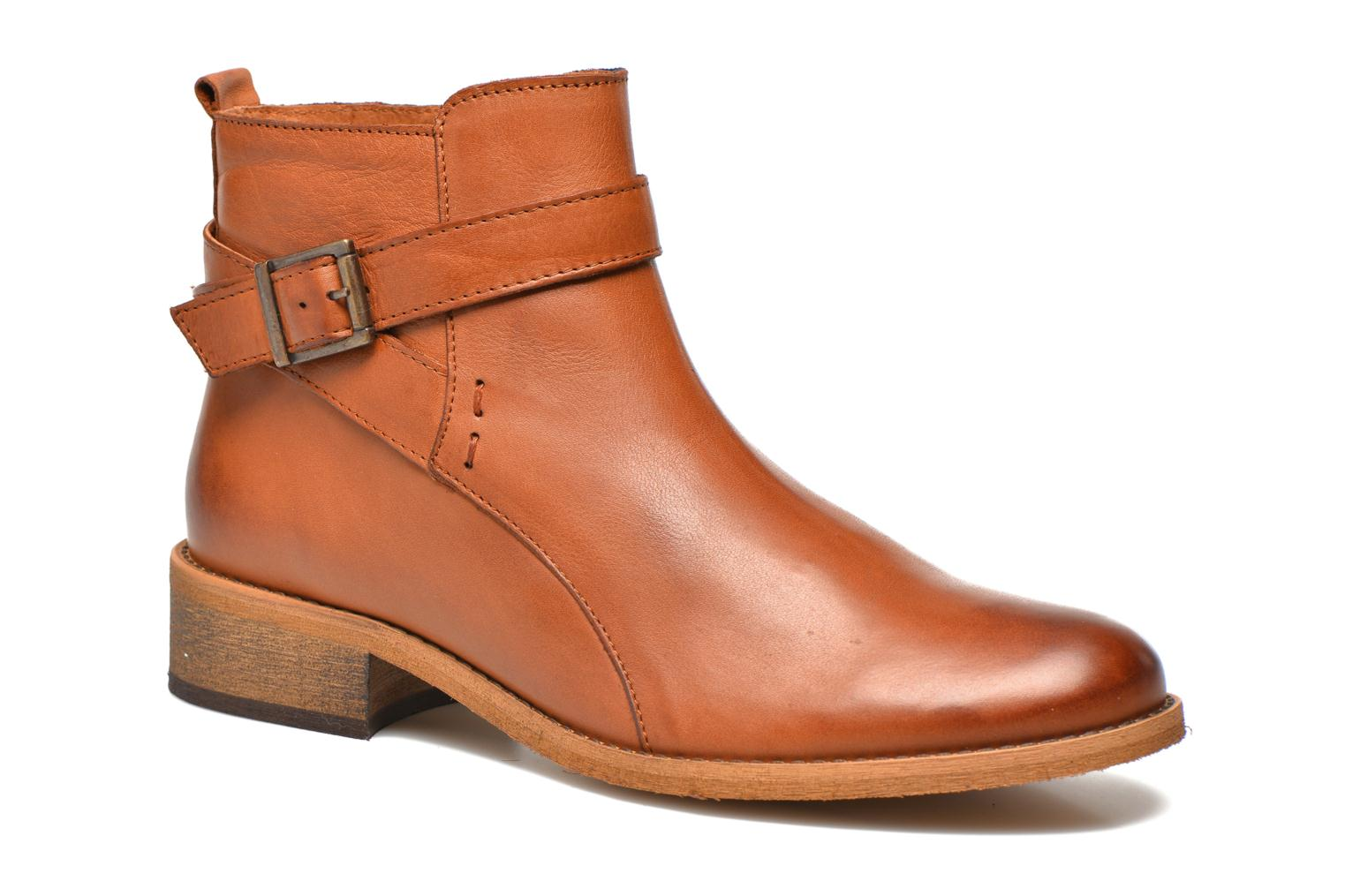 Ankle boots Georgia Rose Colery Brown detailed view/ Pair view