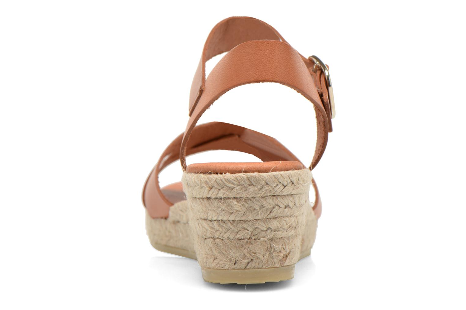 Sandalias Georgia Rose Inof Marrón vista lateral derecha