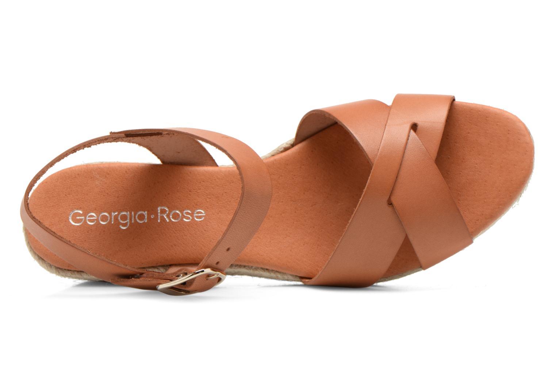 Sandalen Georgia Rose Inof braun ansicht von links