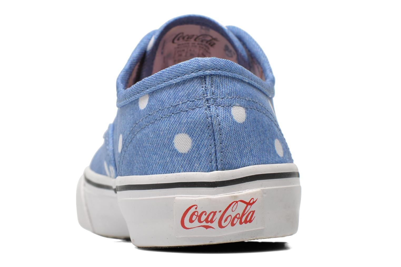 Baskets Coca-cola shoes Kick Rimini Bleu vue droite