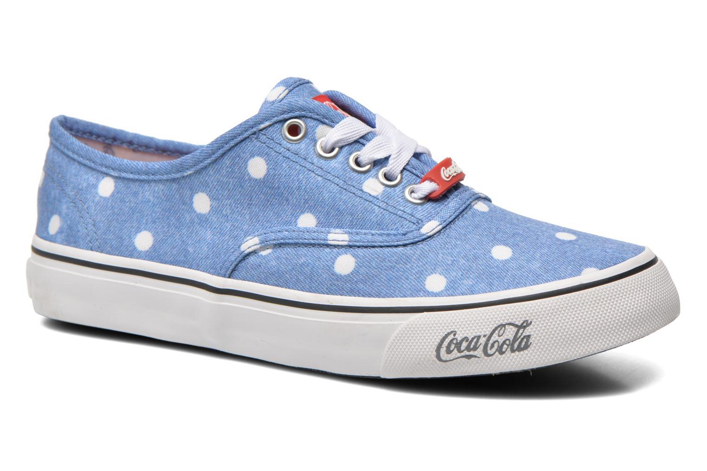 Baskets Coca-cola shoes Kick Rimini Bleu vue détail/paire