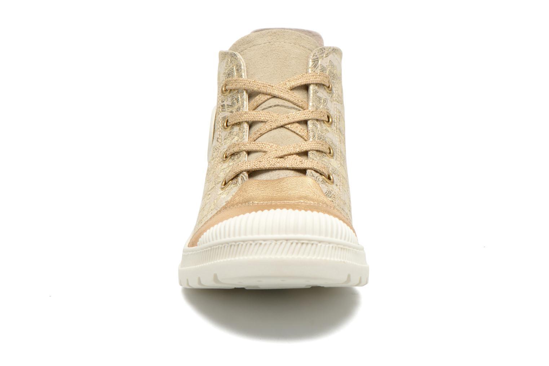 Baskets Pataugas Aix/CA Or et bronze vue portées chaussures