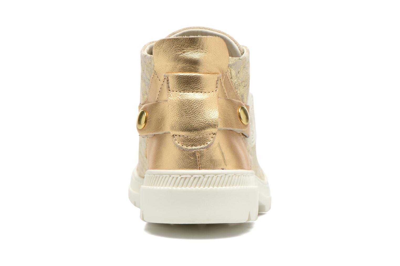 Sneaker Pataugas Aix/CA gold/bronze ansicht von rechts