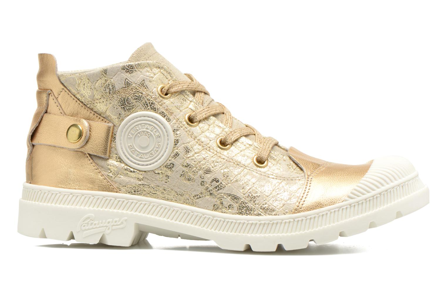 Trainers Pataugas Aix/CA Bronze and Gold back view