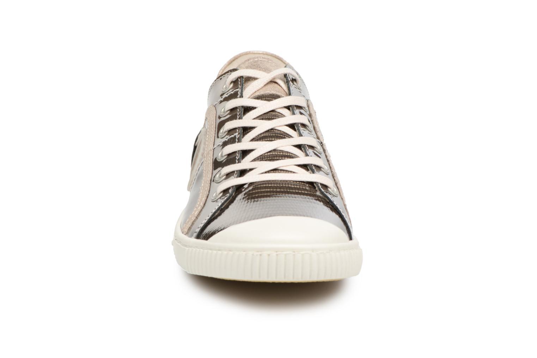 Baskets Pataugas Baheri/V Or et bronze vue portées chaussures