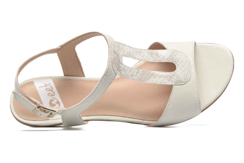 Sandales et nu-pieds Sweet Chenel Blanc vue gauche