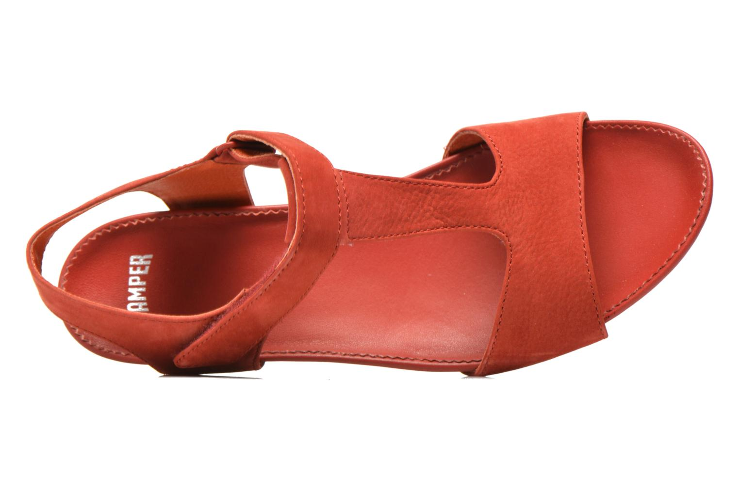 Sandals Camper Micro K200117 Red view from the left