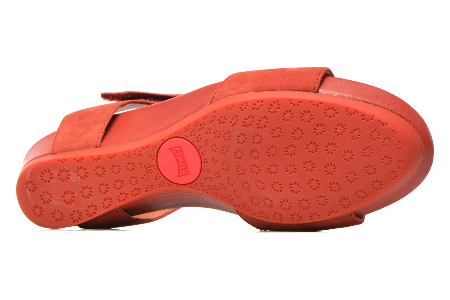 Sandals Camper Micro K200117 Red view from above