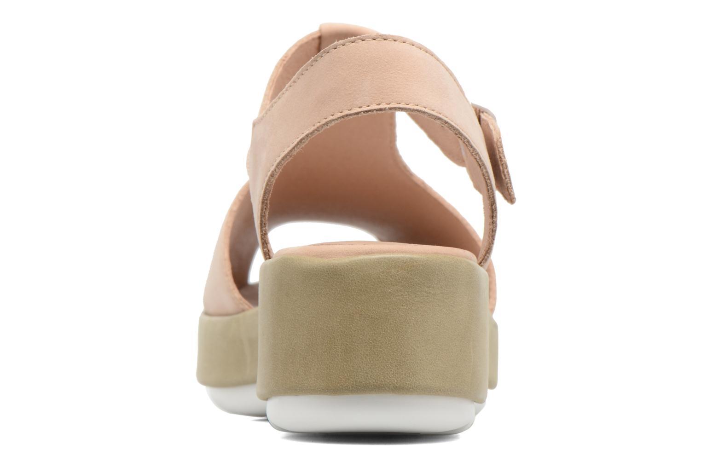 Sandales et nu-pieds Camper Dessa K200083 Beige vue droite