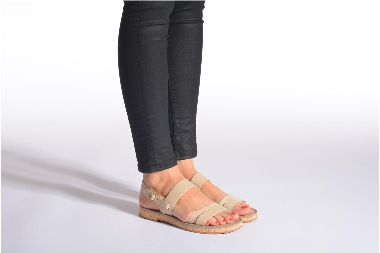 Sandales et nu-pieds Camper Pim Pom K200137 Beige vue bas / vue portée sac
