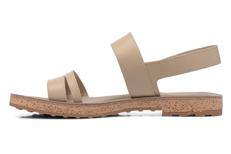 Sandales et nu-pieds Camper Pim Pom K200137 Beige vue face