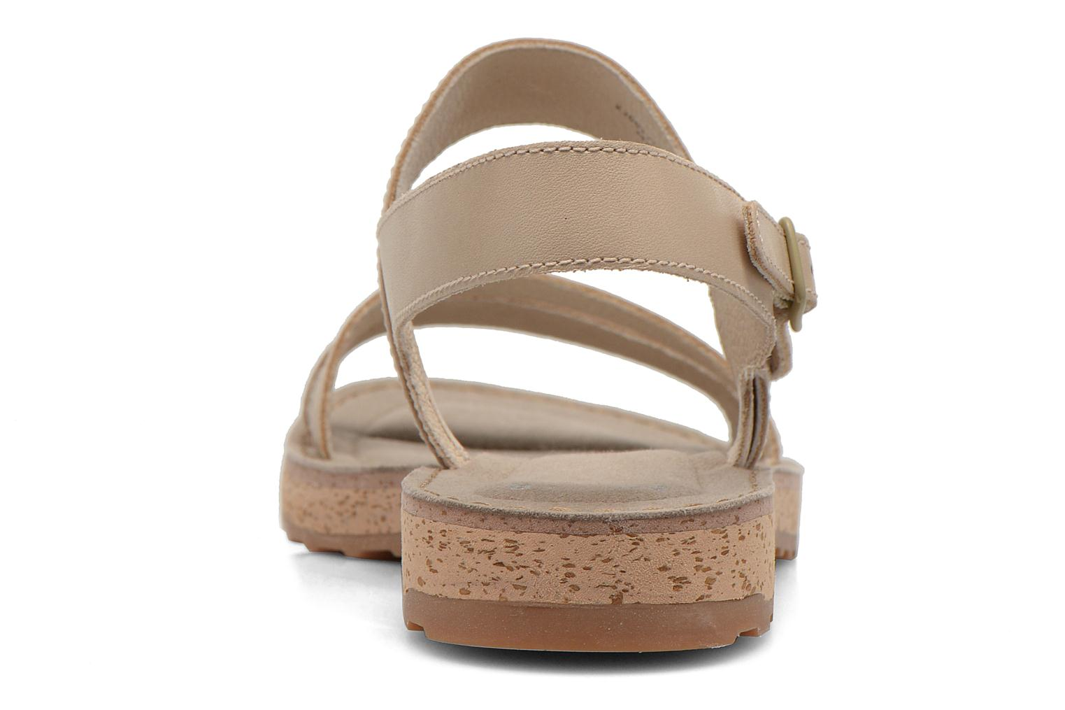Sandals Camper Pim Pom K200137 Beige view from the right