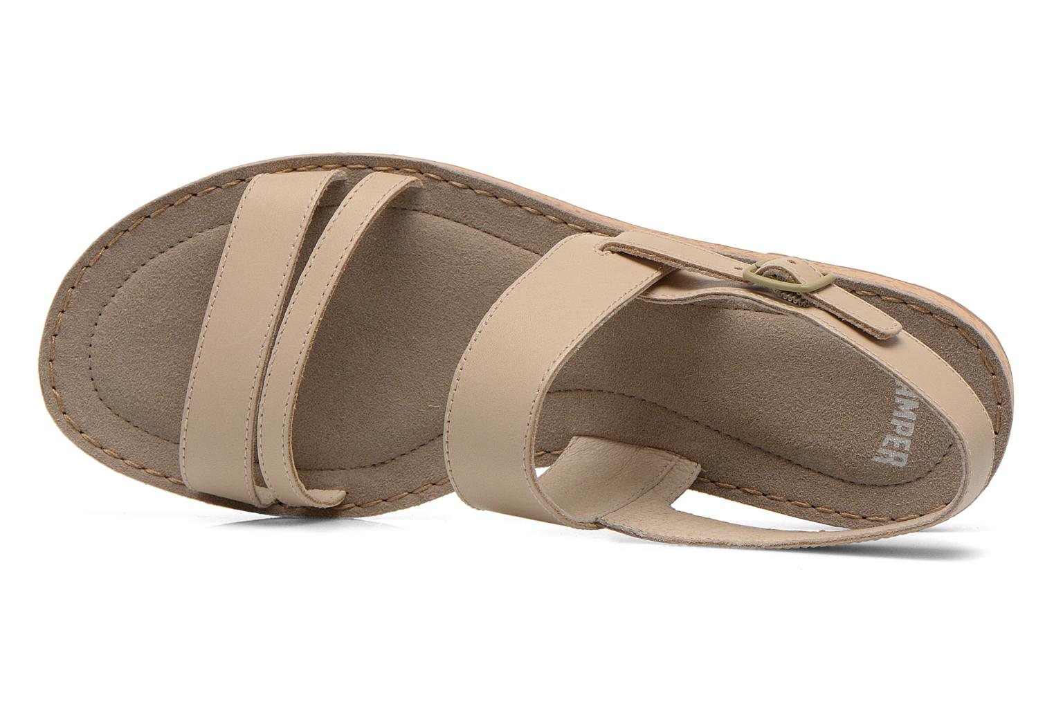 Sandals Camper Pim Pom K200137 Beige view from the left