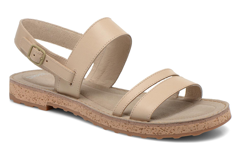 Sandales et nu-pieds Camper Pim Pom K200137 Beige vue détail/paire