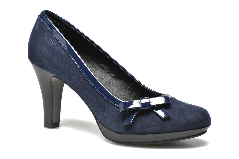 Høje hæle Bugatti Isabella W6679-6V Blå detaljeret billede af skoene