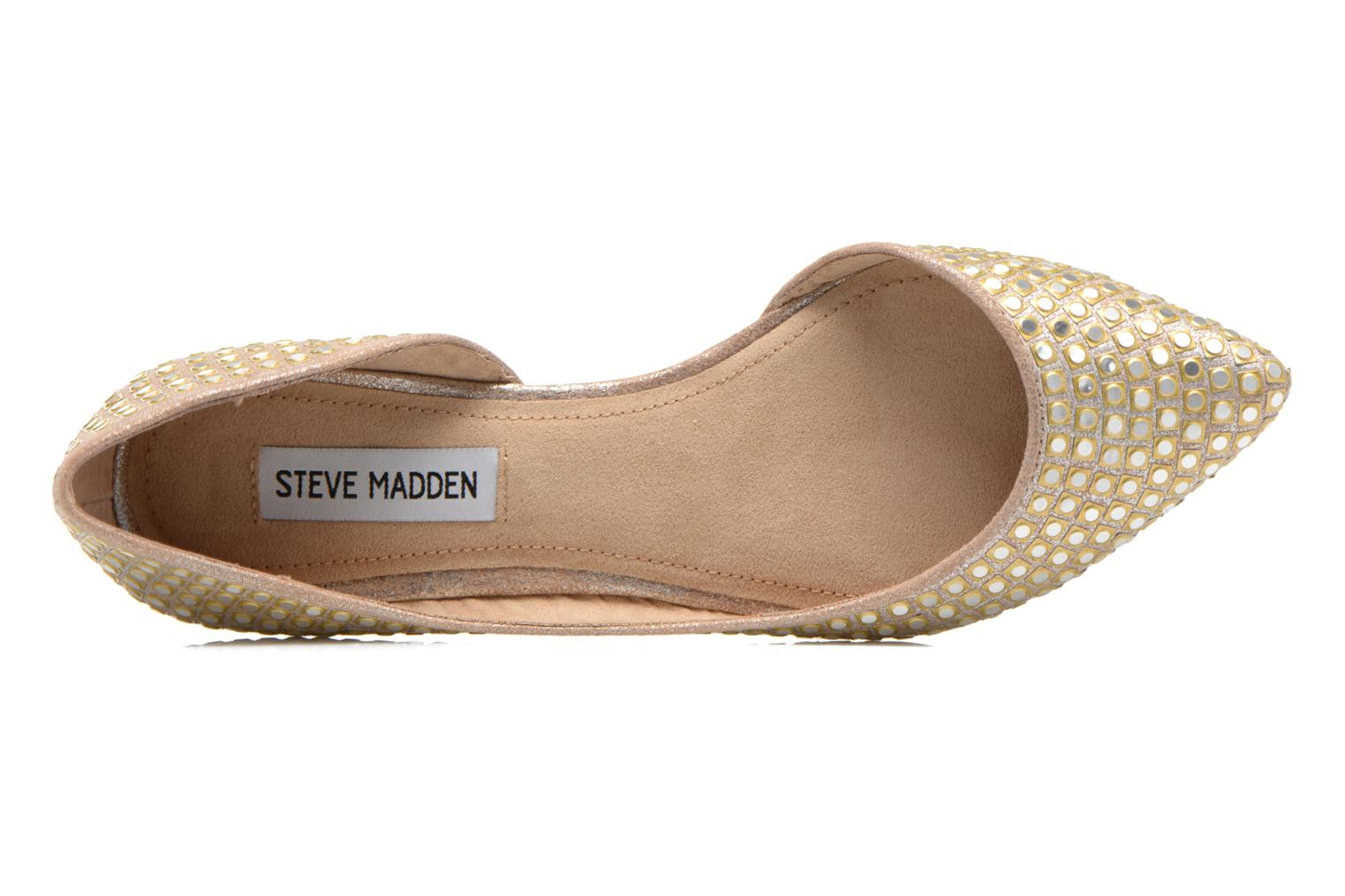 Ballet pumps Steve Madden ELIGANT Bronze and Gold view from the left