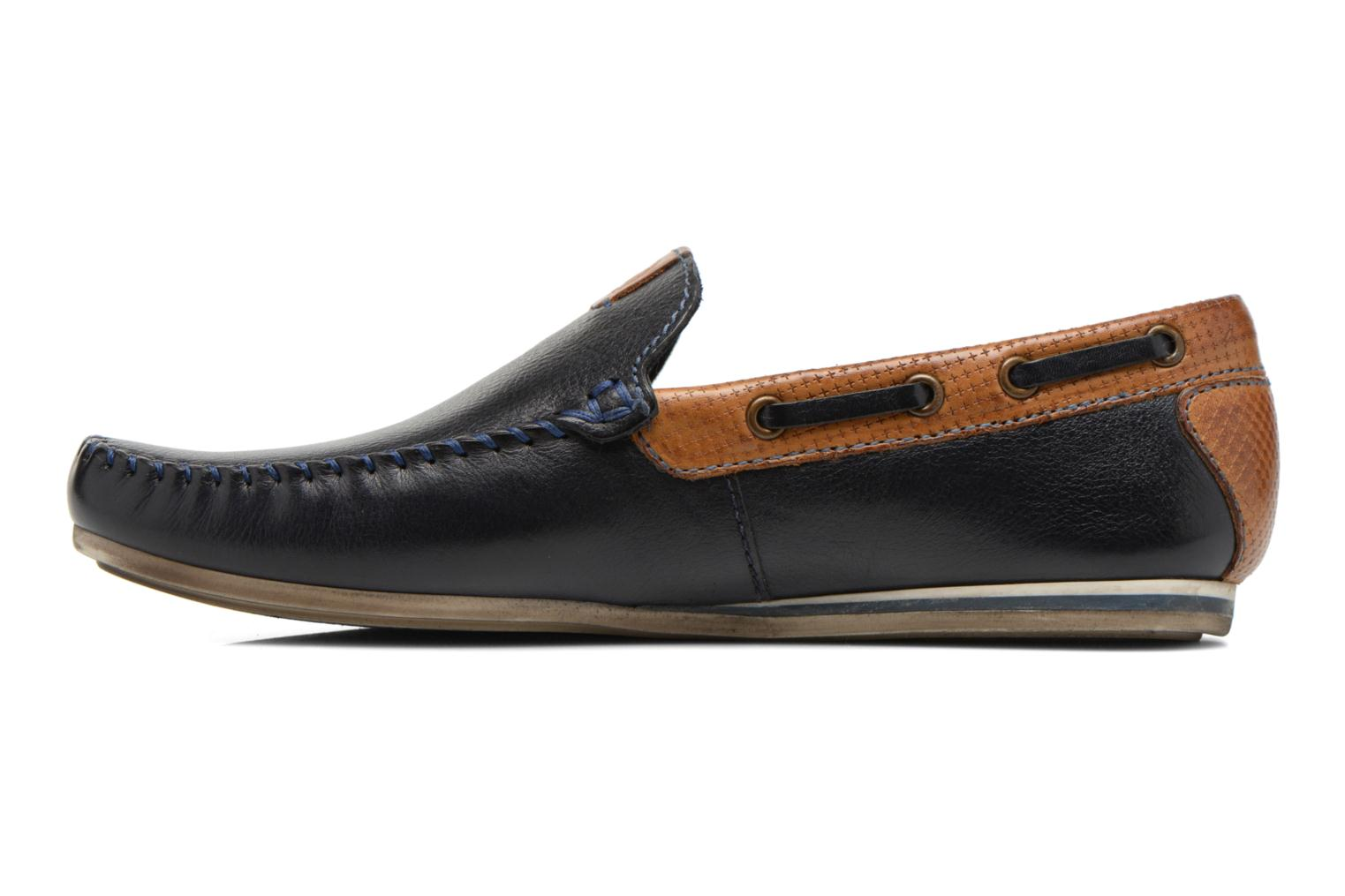 Loafers Bugatti Berokee Blue front view
