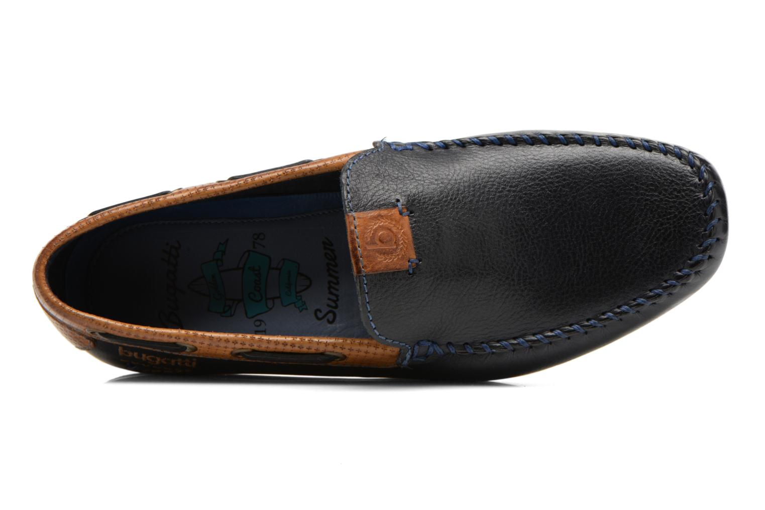 Loafers Bugatti Berokee Blue view from the left