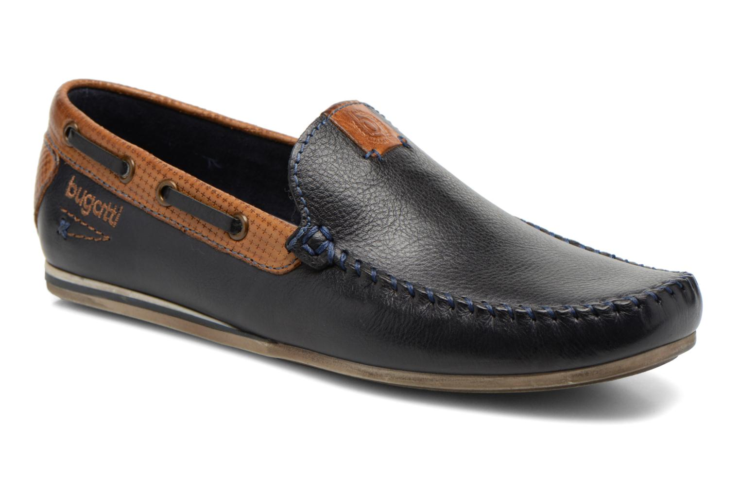 Loafers Bugatti Berokee Blue detailed view/ Pair view