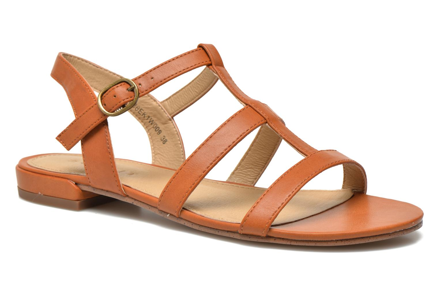 Sandals Esprit Aely Sandal Brown detailed view/ Pair view