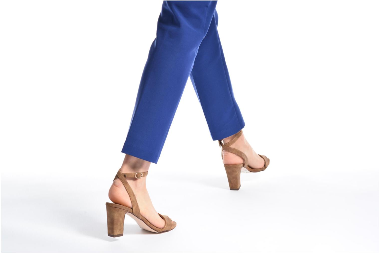 Sandales et nu-pieds Esprit Bless Sandal Marron vue bas / vue portée sac