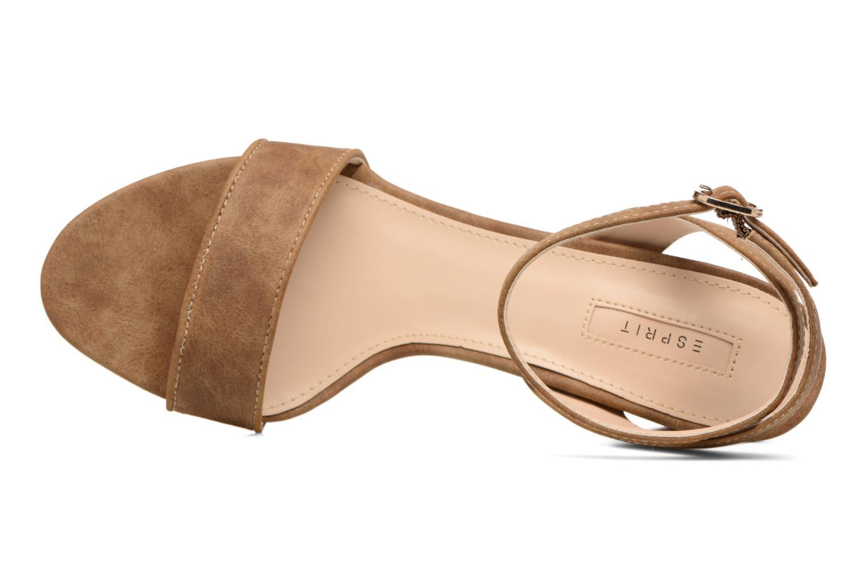 Sandales et nu-pieds Esprit Bless Sandal Marron vue gauche