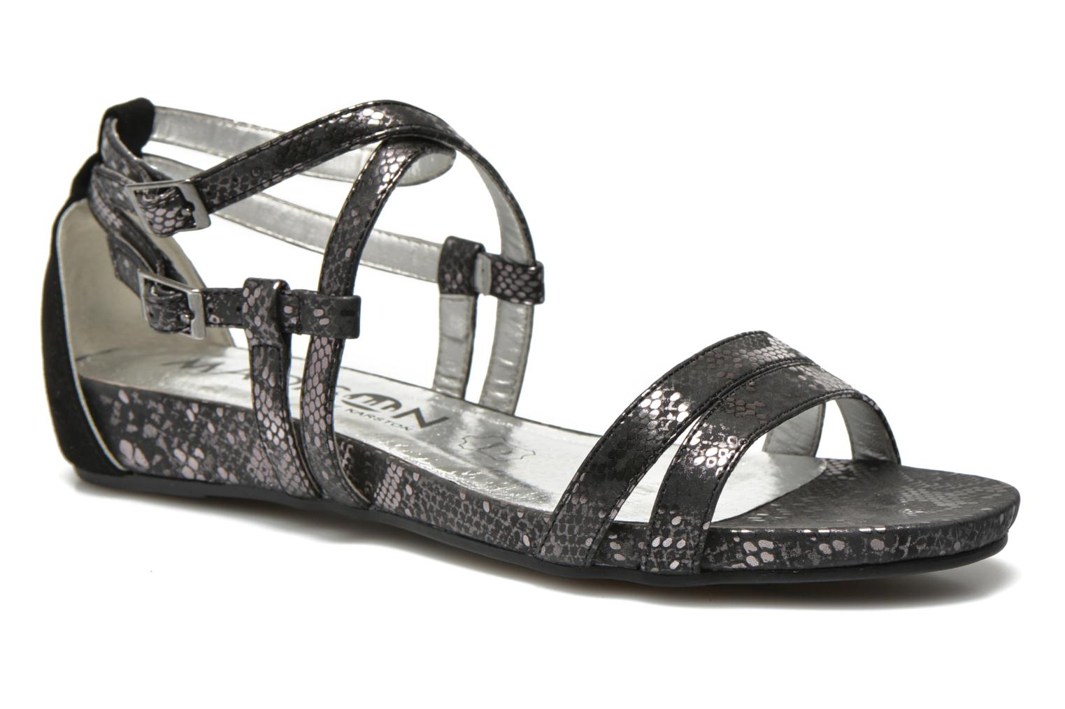 Sandals Madison Emour Black detailed view/ Pair view