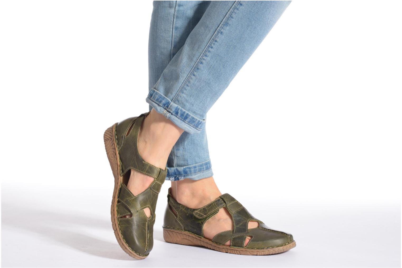 Sandales et nu-pieds Josef Seibel Francesca 09 Marron vue bas / vue portée sac